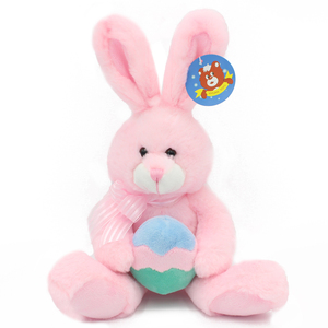 2018 plush rabbit toy easter bunny in colorful egg toy