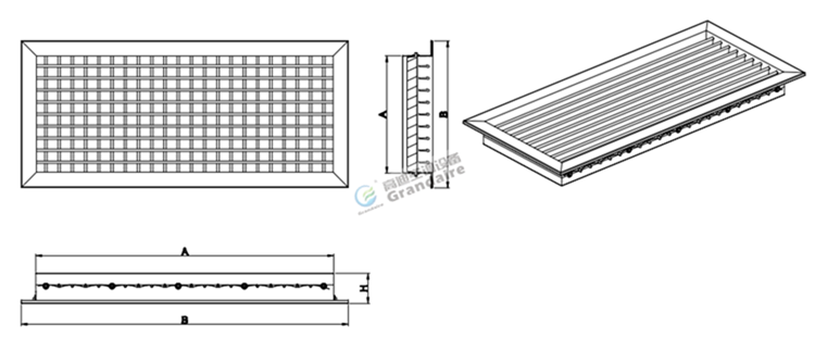Double Deflection Grille With Damper : Hvac double deflection ventilation grilles for