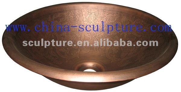 hotel dekorative bad kupfer metall waschbecken bad. Black Bedroom Furniture Sets. Home Design Ideas