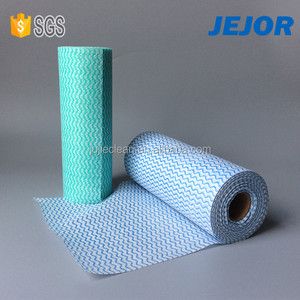 High Quality Disposable Spunlace Non Woven Perforated Clean Cloth In Rolls