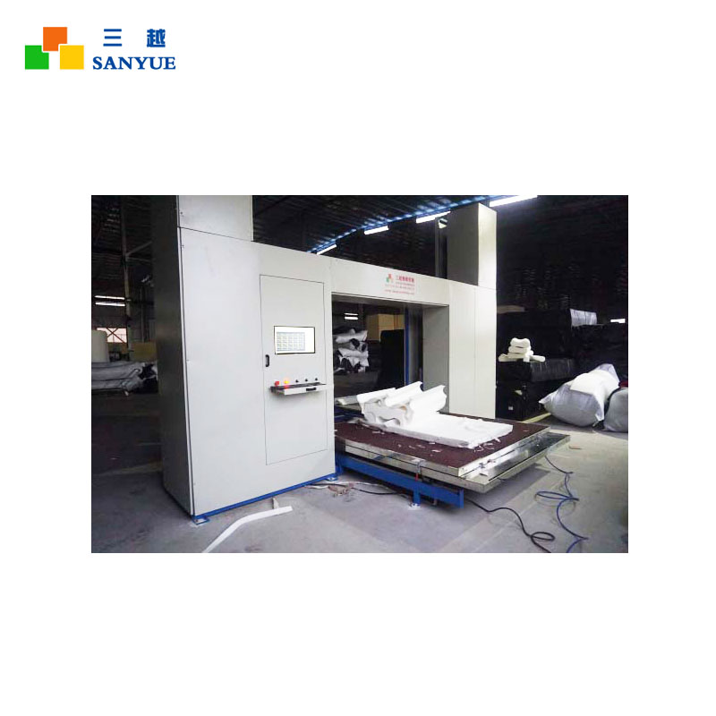 Saw Tooth And Flat Blade CNC Contour Sponge Cutting Machine