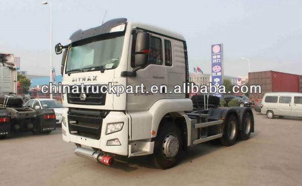 China Sino Tractor truck for transporting dangerous cargo with high extend cab at low price