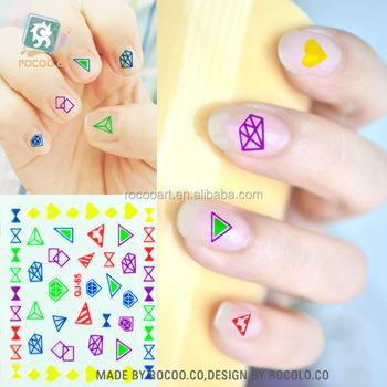 Sq 65diamond Triangle Nail Art Child Watermark Tattoos New Adhesive