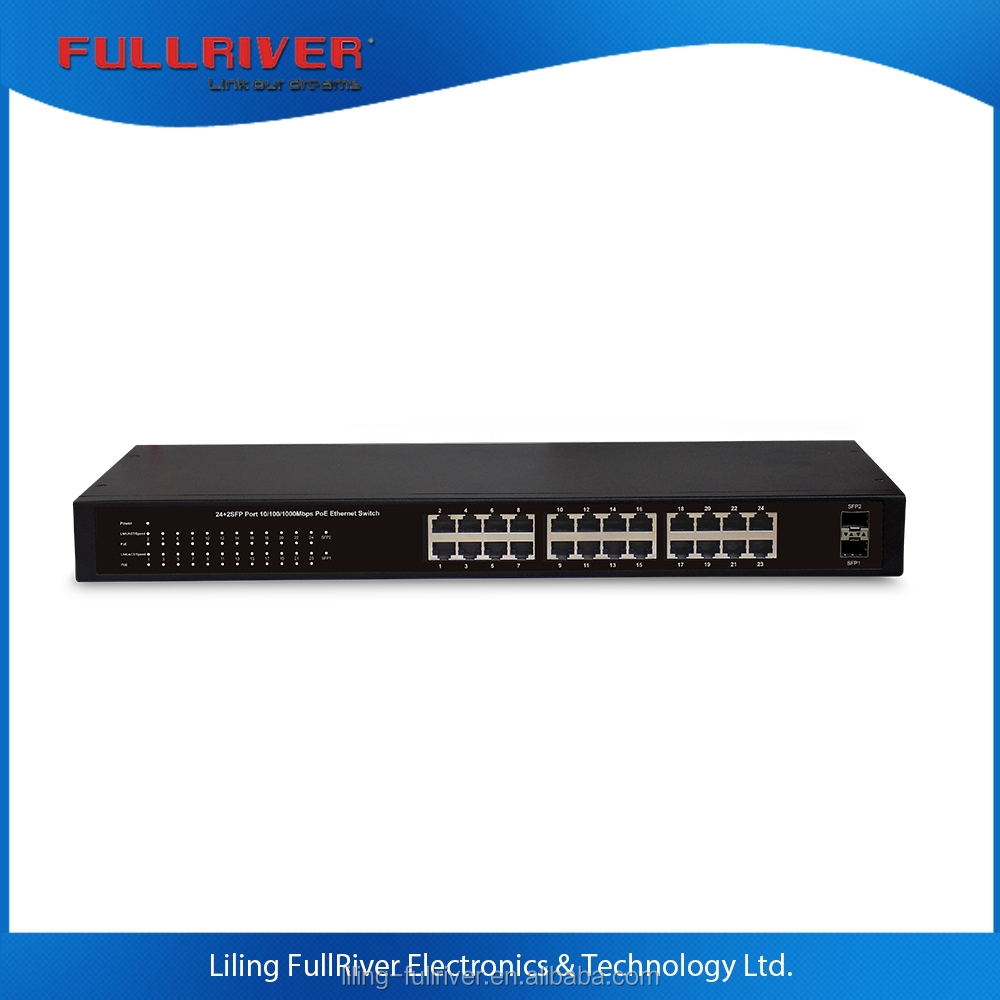 alibaba express in 24 Port 10/100/1000Mbps gigabit + 2 SFP PoE Green Ethernet Switch POE network switch 260W/400W power supply