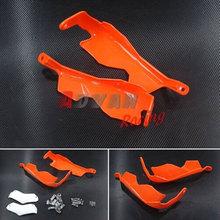 Orange & White Protect Handguards Brake Clutch Hand Guard For KTM 390 Duke 2012 2013