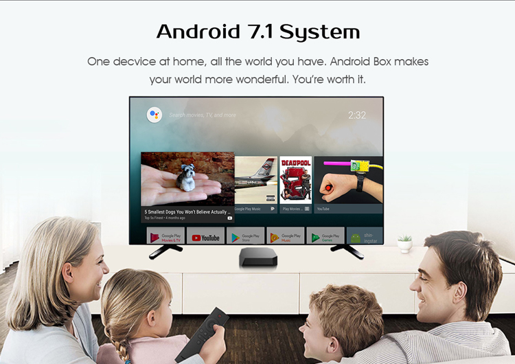 Последние коммерческие U2 + Поддержка Miracast DLNA Airplay Google smart media player h265 Отт android ТВ коробка