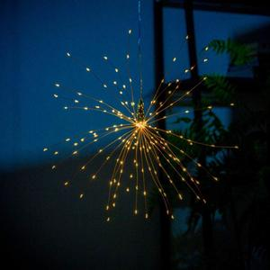 LED Dandelion String Lights LED Fireworks Copper String Lights 200 LEDs 18 Inches Outdoor Use Solar Powered Tree Hanging Lights