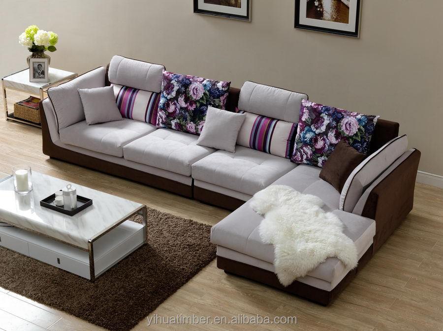 Comodo sofá Muebles del salón sala de sofá de madera de alta ...