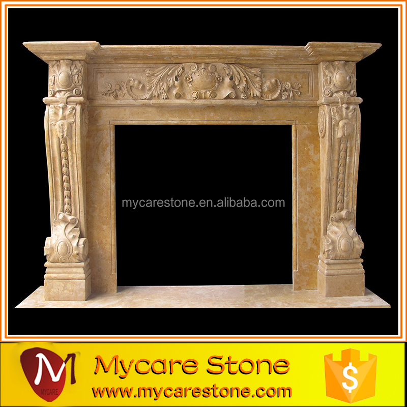 2016 modern marble fireplace mantel