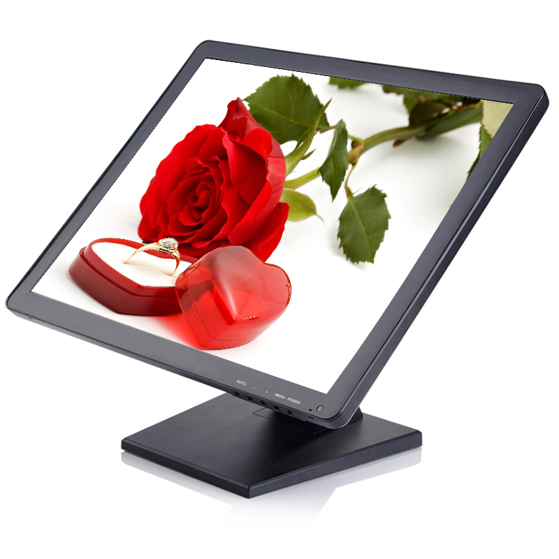 17 inch touch pos monitor 1280*1024 touch lcd monitor touch screen monitor with VGA HD-MI USB