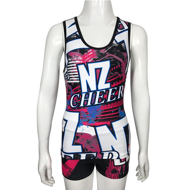 Wholesale custom cheer tank top sublimation cheerleading uniforms фото