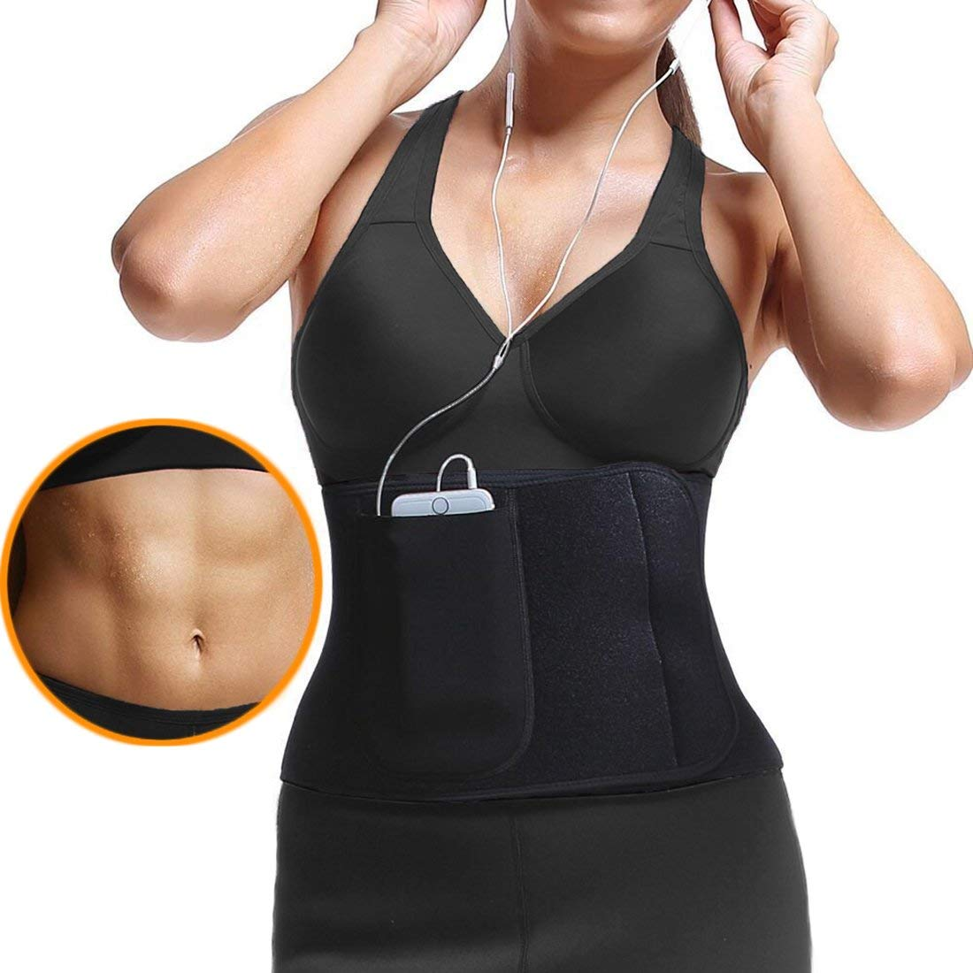 d8b568c15d Get Quotations · JANSION Waist Trimmer Belt with pocket