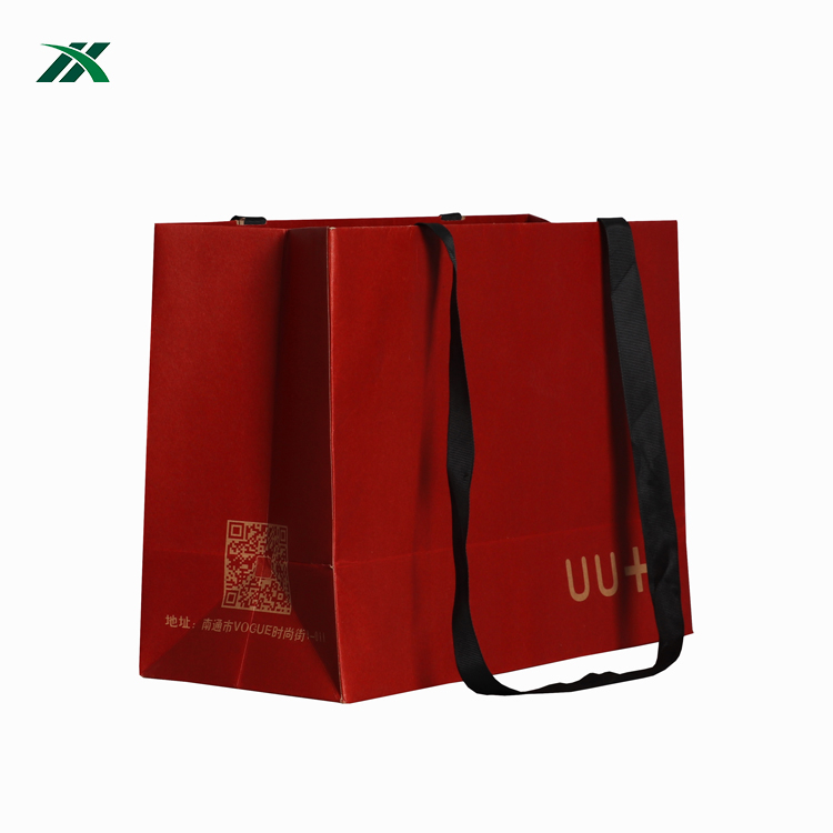 Factory Custom Made Apparel Recyclable Shopping Paper Bag Flat Handle