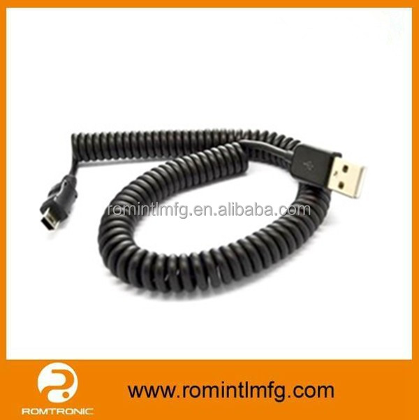 1Meter When Stretched Short USB Cable Mini USB Extension Cable