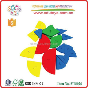 Wooden Math Learning Toys for Children Circle Fraction Box