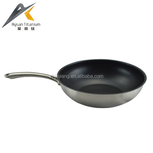 Factory wholesale non stick fry pan cut edge cast steel handle japanese frying pan