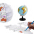 Coloring 3D DIY promotion globe for travel path design, scratch globe replacement color drawing globe