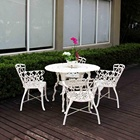 Good Quality Romans Classical Aluminum Garden table chair set Outdoor furniture