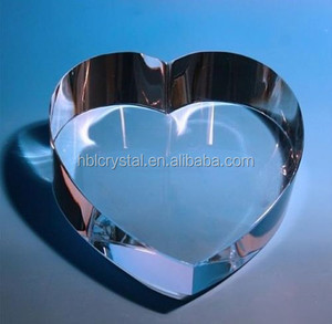 Hot sale fashion blank heart shaped crystal paperweight for gifts