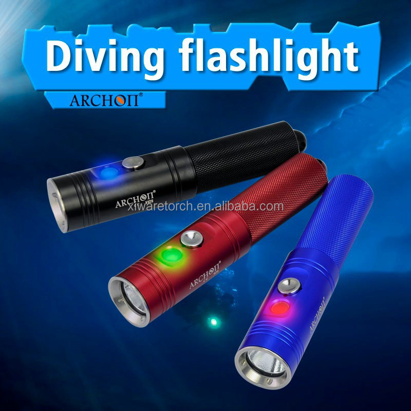 ARCHON Mini Rechargeable led Diving led Flashlight V10S