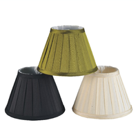 High Quality Cheap Royal Design Round Conical Shape Pleated Lamp Shade Covers Chandelier Cloth Lampshade for Lighting lamps
