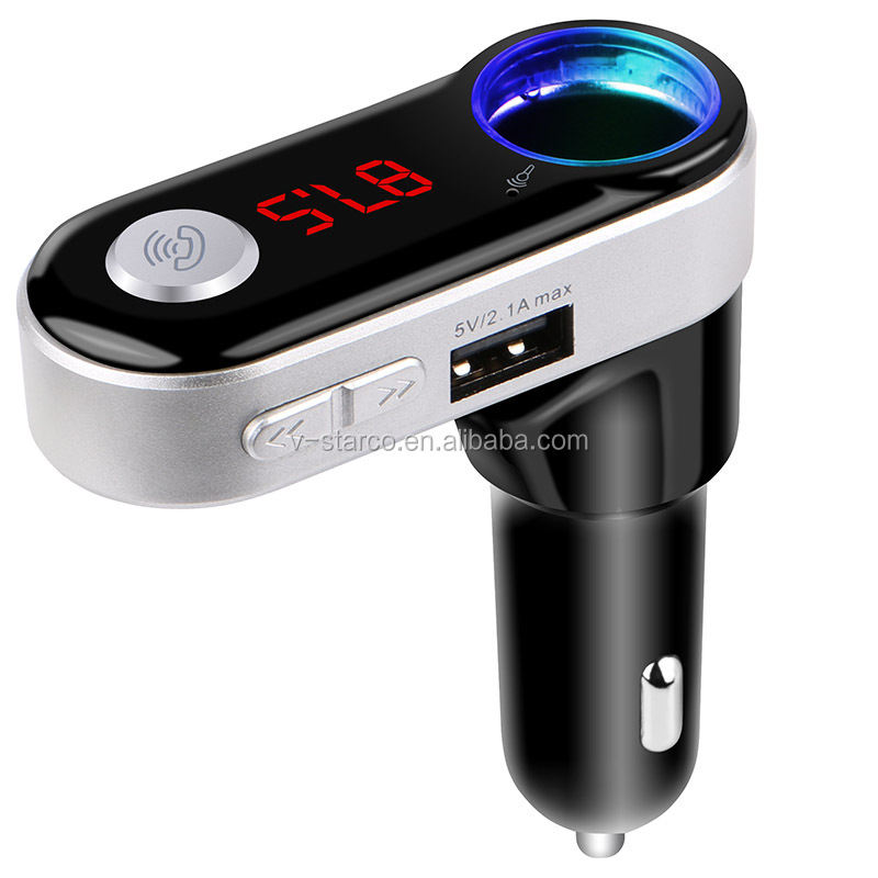 Car Fm Transmitter Modulator Kit Mp3 Wma Player Dual Usb Car
