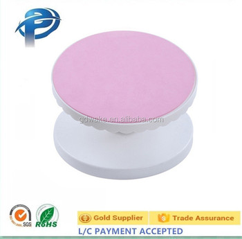 Cheap pink plastic cake revolving turntable/ turntable for cake