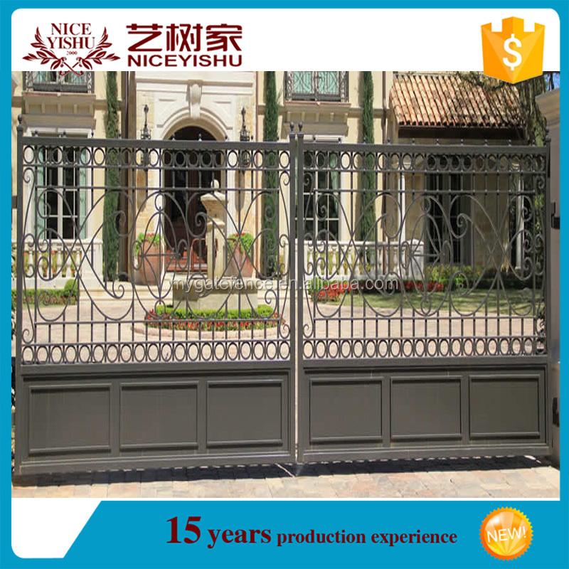 Yishujia fabrik modernes haus/stahl metall eisentor design, heavy ...