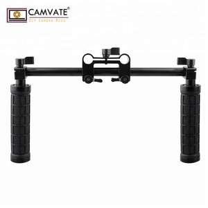 CAMVATE Handle Grips Front Handle Clamp Mount for 15mm Rod Support System Shoulder Rig