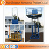 China guide rail hydraulic freight elevator, hydraulic goods lift supplier