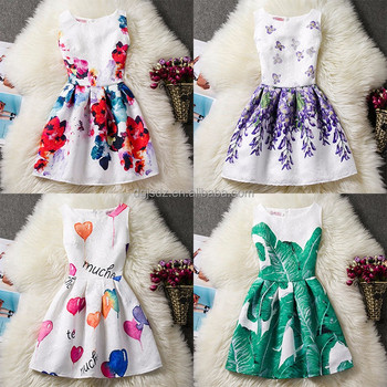 f1609d887c24 Latest Children Tutu Clothing Cotton Frocks Floral Designs Colorful ...