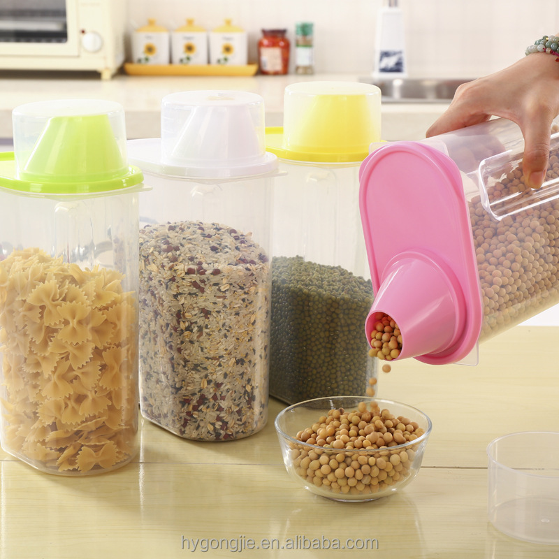 Custom Plastic Pet Dog Food Storage Container With Flip Lid Buy