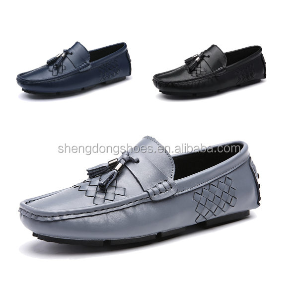 New design 2018 loafer leather sneakers for <strong>men</strong>
