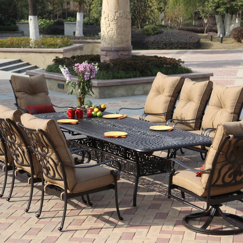 Buy Darlee Santa Anita 11 Piece Cast Aluminum Patio Dining Set With