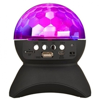 Mini Karaoke Player Use 1000mAh Chargeable Wireless Bluetooth Player with 360 Degree Rotating LED Stage Lighting for Party Music