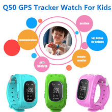 2016 New Children Smart watch phone Q50 SOS Tracking GPS Kids watch