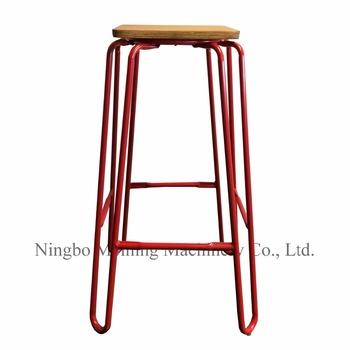 Vintage Industrial Metal Barstool Steel Wire Chairs Stool Unique Restaurant  Furniture