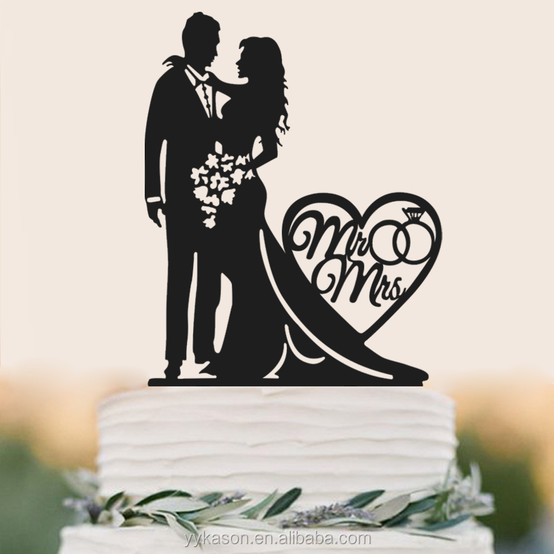 Plastic Funny Birthday Wedding Cake Letters Display Decoration Topper