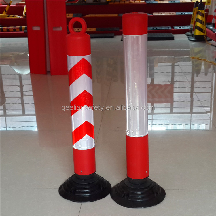 Flexible Warning Guardial Plastic Yellow Delineator Posts
