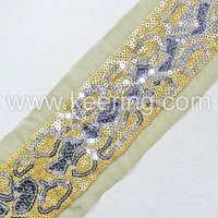 2012 gold and silve Sequin triming WTP-371