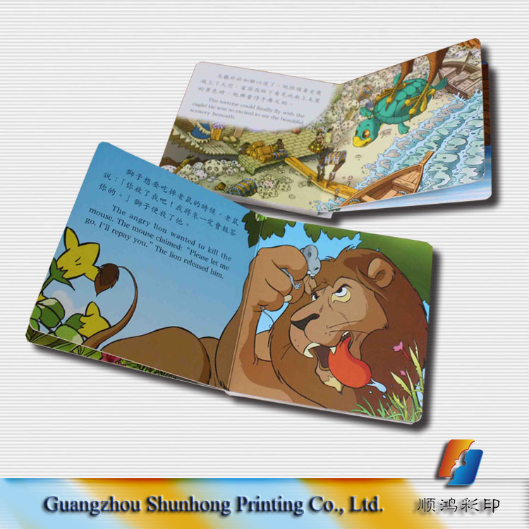 English children story board book printing