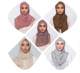 Low MOQ factory cheap muslim fashion pure color dubai hijab scarf