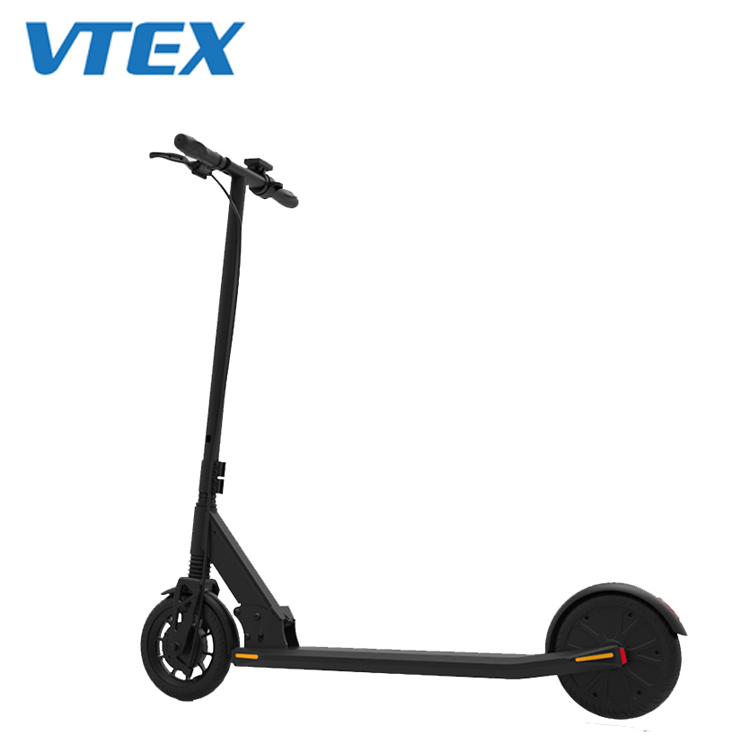 250w 8 Inch Solid Tire German Standard Factory Price Private Tooling Electric Scooter With License Plate, Electrico Scooter, Black