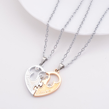 6bcb235227 2014 New Couple Lovers Necklaces Stainless Steel I Love You Letters Pendant  Necklace Women Fashion Jewelry