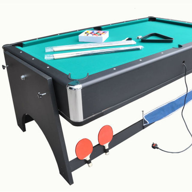 Single Foldale Ice Air Hockey Table,4 In 1 Rotating Multi Game Table,