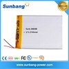Portable Super Li-Ion rechargeable 8000mah li polymer battery pack with moq 500pcs