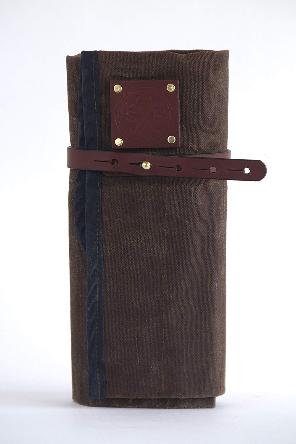Waxed Canvas and Leather Tool Roll Up Bag - Carpenter, Woodworking, Mechanic, Tools and Accessories - The Orville Tool Pouch