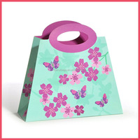 shopping luxury top new flower trapezoid paper bag