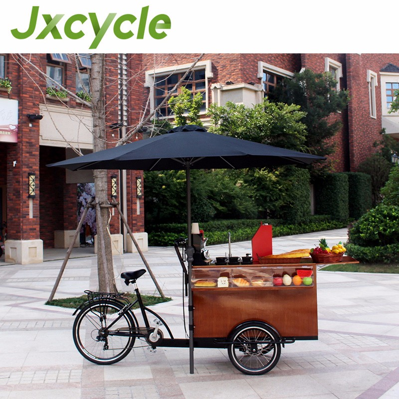CE certificate new fashion bike food cart/mobile coffee bike