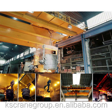 Steel Factory 450 Ton Double Girder Foundry Overhead Crane